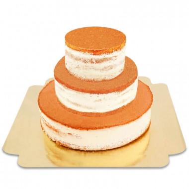 Naked Cake trzypiętrowy