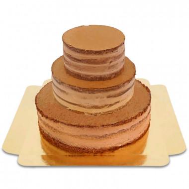Czekoladowy trzypiętrowy Naked-Cake