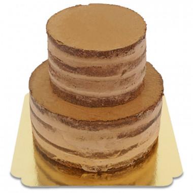 Czekoladowy naked cake, ślub