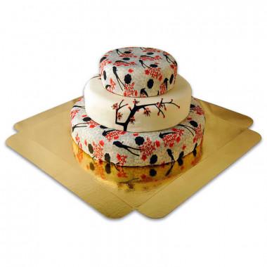 Tort weselny - Cherry Blossom