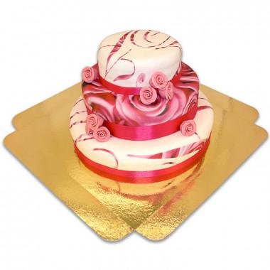 Tort weselny - Pink Wedding