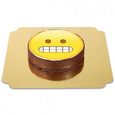 Tort czekoladowy z emotikonką - złośliwy