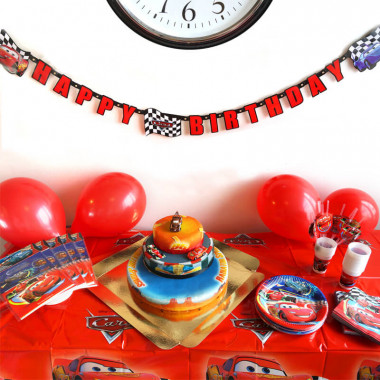 Auta - zestaw z tortem