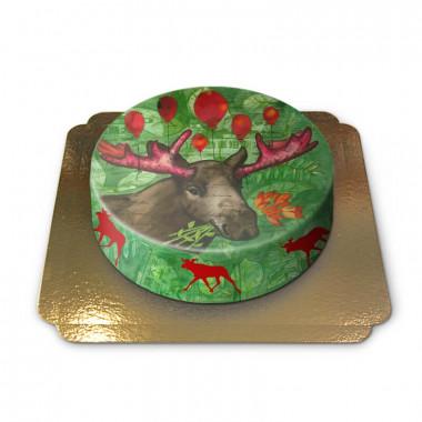 Świąteczny łoś autorstwa Pia Lilenthal