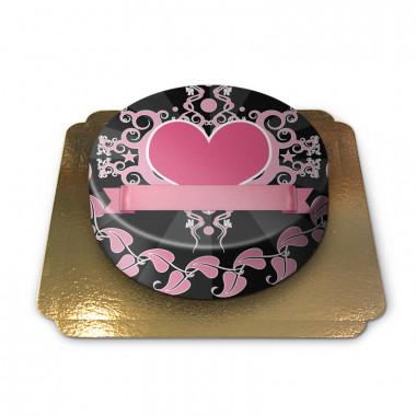 Tort różowe serce
