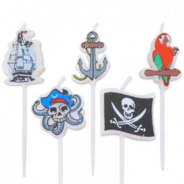 Świeczki - Piraci (5 sztuk)