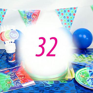 Zestaw imprezowy Pidżamersi dla 32 osób - bez tortu