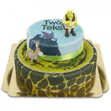 Tort dwupiętrowy Shrek i Osioł