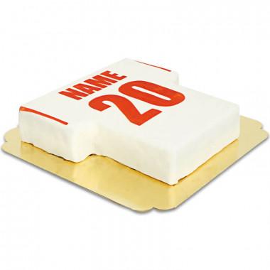 Tort koszulka piłarska biało-czerwona
