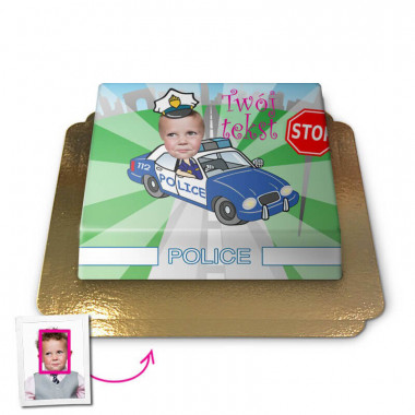 Tort Face-Cake - Policjant