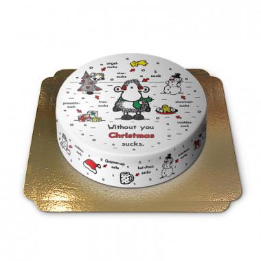 Sheepworld Tort - Bez Ciebie Święta są głupie!