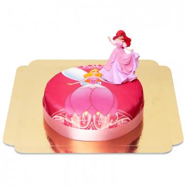 Tort księżniczki z figurką Arielki