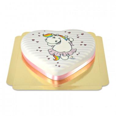 Tort serduszko z jednorożcem Pummel