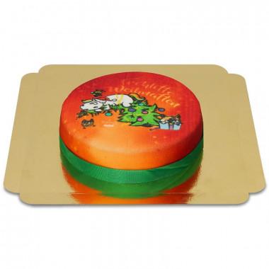 Świąteczny Tort z jednorożcem Pummel