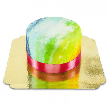 Tort - kolory tęczy