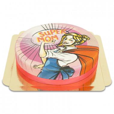 Super Mama - różowy Tort
