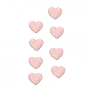Cukrowe różowe serca (8 sztuk)