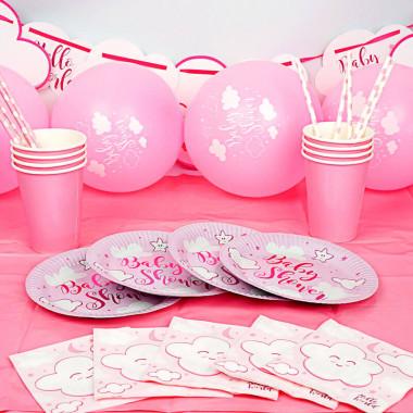 """Zestaw imprezowy """"różowe baby shower"""""""