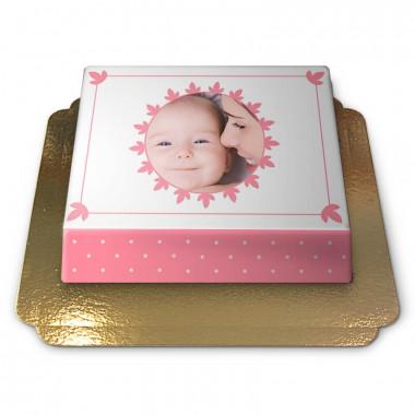 Pastelowo różowy Fototort