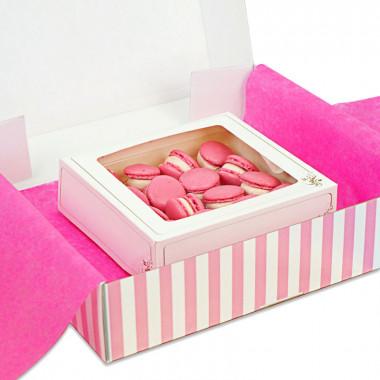 Różowe makaroniki