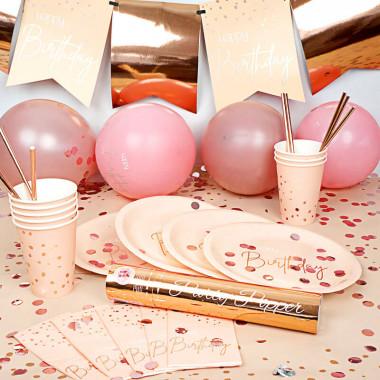 """Zestaw imprezowy - """"Urodziny w kolorze różowego złota"""""""