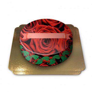 Tort w czerowone róże