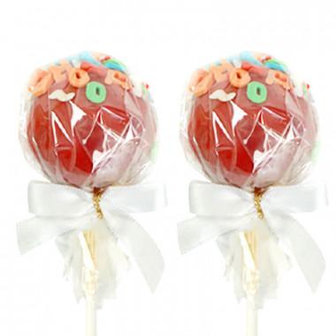 Czerwone cake-pops z literkami (12 sztuk)