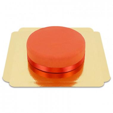 Czerwony Tort ze wstążką