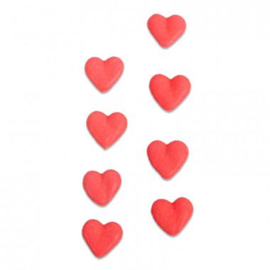 Czerwone cukrowe serca (8 sztuk)