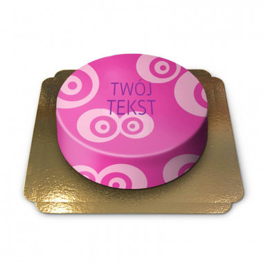 Różowy tort ze wzorem w kółeczka
