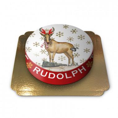 Tort bożonarodzeniowy Rudolf projektu Pia Lilenthal