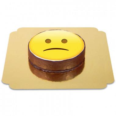 Tort Sachera czekoladowy z emotikonką - smutny