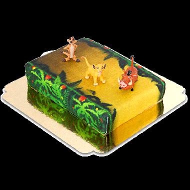 Simba, Timon & Pumba na torcie z dżungli