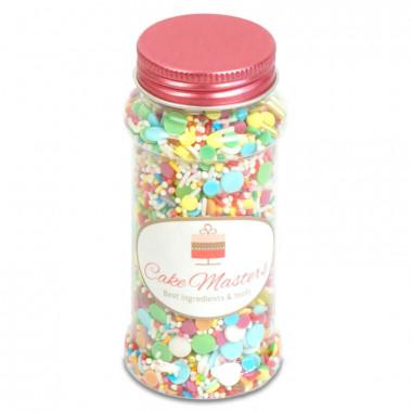 Posypka cukrowa - kolorowe urodziny, 80g