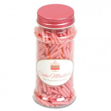 Posypka cukrowa - różowe pałeczki, 80g