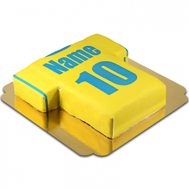 Tort koszulka piłkarska, żółto-niebieska