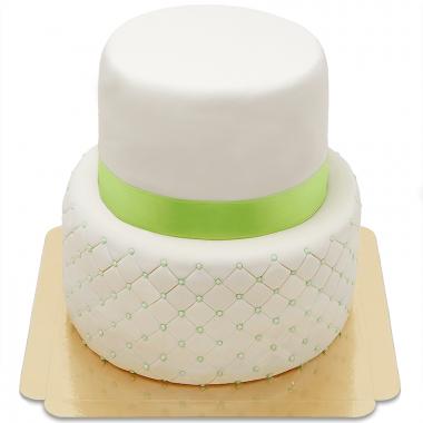 Tort Happy Birthday Deluxe dwupiętrowy - różne kolory