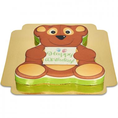 Tort urodzinowy w kształcie misia