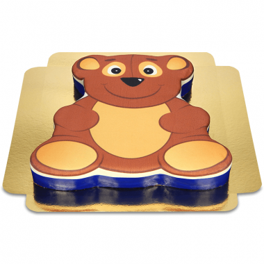 Tort w kształcie misia