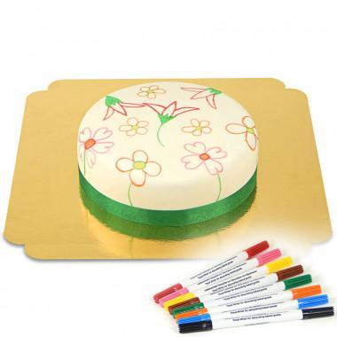 Tort z tortowymi pisakami