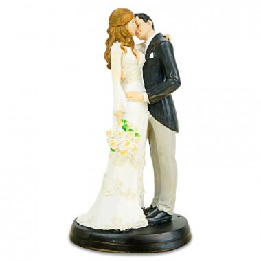 Figurka tortowa całująca sie Para Młoda