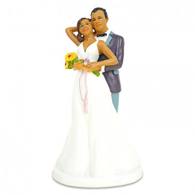 Figurka tortowa - zakochana Para młoda