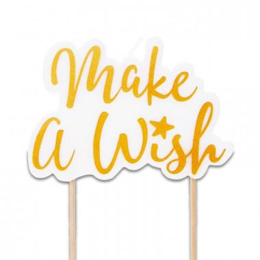 Świeczka na tort, Make a wish Złota