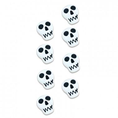 Cukrowa dekoracja - czaszki (8 sztuk)
