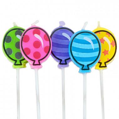 Świeczki na tort - Balony (5sztuk)
