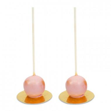 Walentynkowe Cake Pops Deluxe- Różowe (10 sztuk)