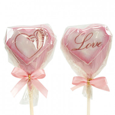 Walentynkowe Serca Cake Pops Różowe (12 sztuk)