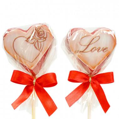 Walentynkowe Cake-Pops w kształcie serca- czerwone (12 sztuk)