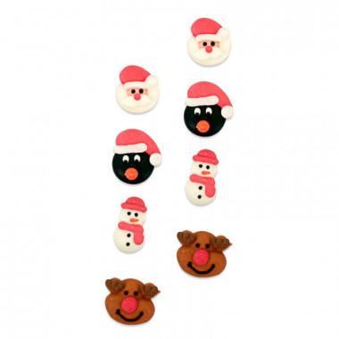 Bożonarodzeniowa dekoracja cukrowa (8 sztuk)