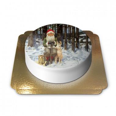 Świąteczny elf z króliczkiem śnieżnym - Jan Bergerlind